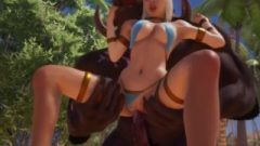 [3D] WildLife Minotaur Fuck Blonde Girl
