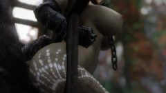 Skyrim Half-Dragon chick Fucks A Horny Caged Monster
