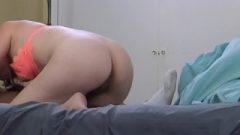 Little White Hotwife Deep Throating A big black cock