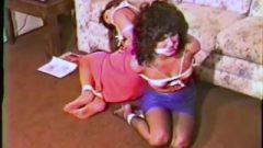 2 Women In Stockinig Soles Struggling