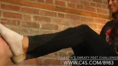 Celestia's Sweaty Feet Contest – Www.clips4sale.com/91094/15362575