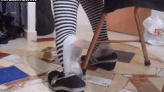 Shoe Play In Horny Stank Failed Socks Mexican Receives Nasty