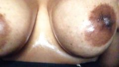 Flirtatious Oily Natural Enormous Breasts