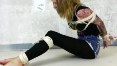 Chick Tied Up And Tape Gagged